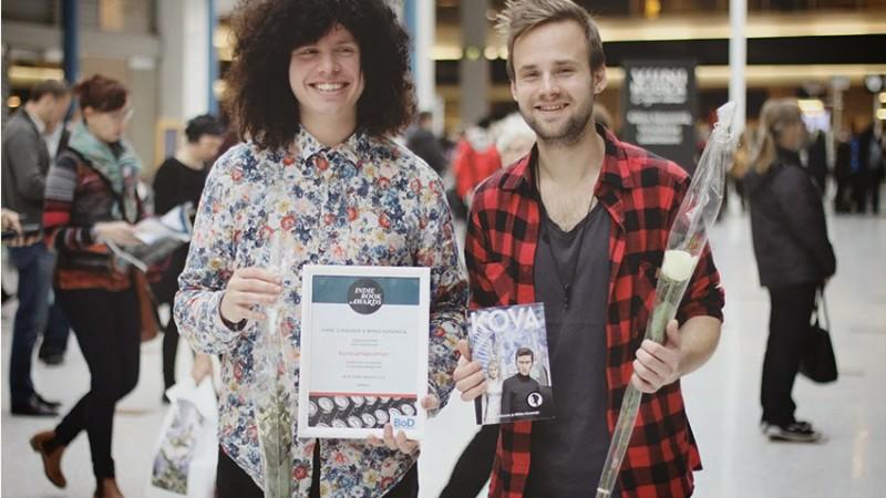 Nowhere Boyn kirjailijat Karri ja Mikko Helsingin kirjamessuilla 24.10.2014