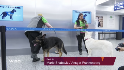 ZDF – Covid dogs at Helsinki Airport