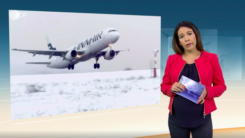 ZDF Snow at the Helsinki Airport